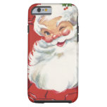 Jolly Winking Santa Claus, Vintage Christmas Tough iPhone 6 Case