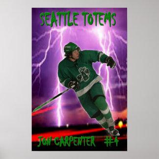 Jon Carpenter - Seattle Totems Poster