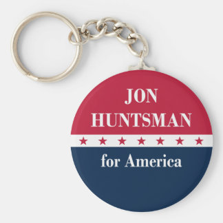 Jon Huntsman for America Basic Round Button Key Ring