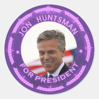 Jon Huntsman for President in 2012 Round Sticker