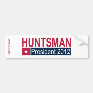 Jon Huntsman President 2012 Car Bumper Sticker