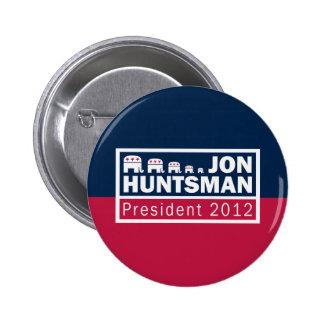 Jon Huntsman President 2012 Republican Elephant Pinback Button
