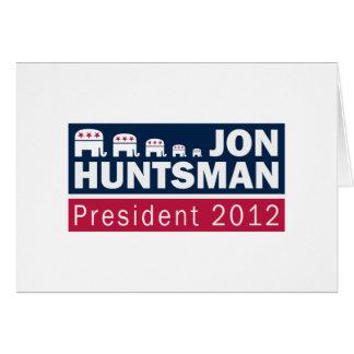 Jon Huntsman President 2012 Republican Elephant Greeting Card