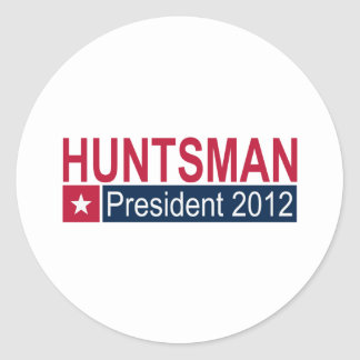 Jon Huntsman President 2012 Round Sticker