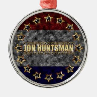 Jon Huntsman Stars and Stripes Silver-Colored Round Decoration