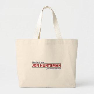 Jon Huntsman The Time is Now President 2012 Canvas Bag