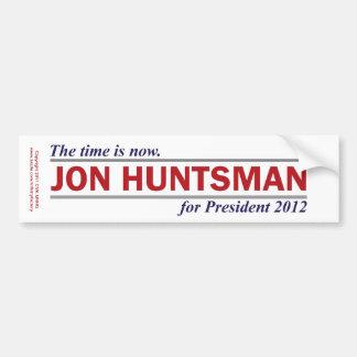 Jon Huntsman The Time is Now President 2012 Car Bumper Sticker