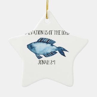 Jonah 2:9 ceramic star decoration