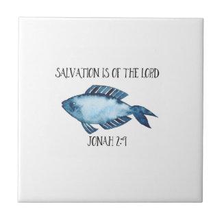 Jonah 2:9 ceramic tile