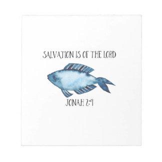 Jonah 2:9 notepad