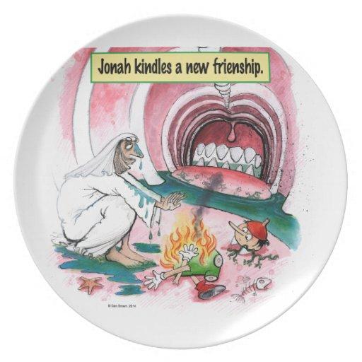 Jonah Pinocchio Whale Biblical Plate