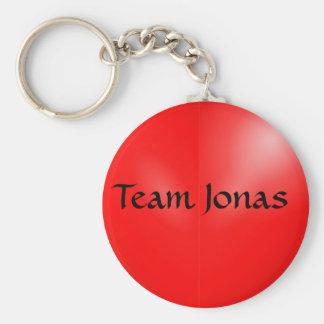 Jonas  basic round button key ring