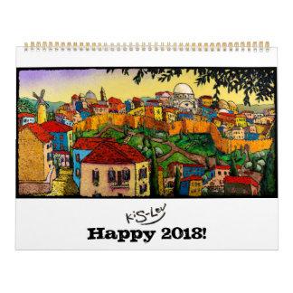 Jonathan Kis-Lev Art Calendar 2018
