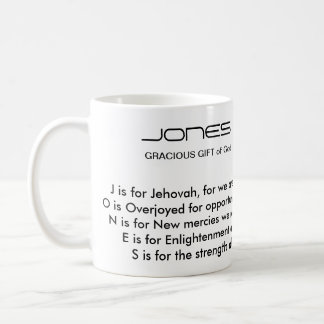 Jones Family Name Poem Mug