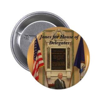 Jones for House of Delegates 6 Cm Round Badge