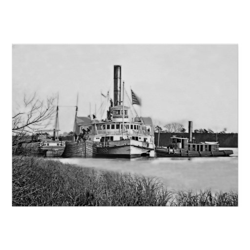 Jones Landing Mail Boat Print