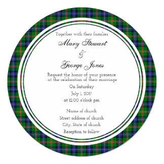 Jones Scottish Wedding Round Invitation