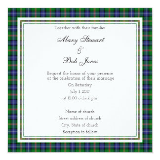 Jones Scottish Wedding Square Invitation