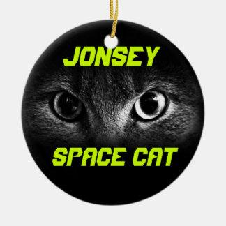 Jonesy: Space Cat Ceramic Ornament