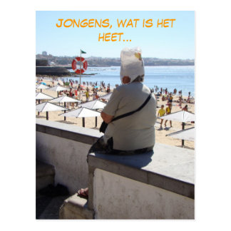 Jongens, zo heet (Dutch Nederlands) funny Postcard