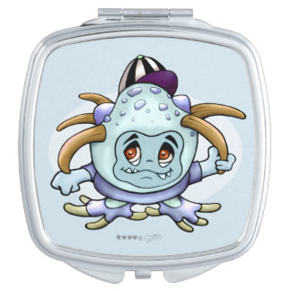 JONI PITTY ALIEN CARTOON compact mirror SQUARE