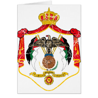 Jordan Coat Of Arms Card