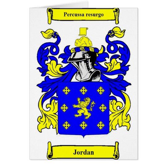 Jordan (English) Coat of Arms Card