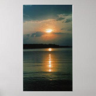 Jordan Lake Sunset Print