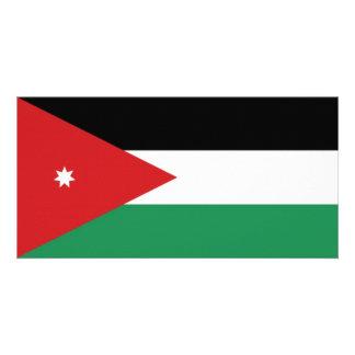 Jordan National Flag Photo Card Template