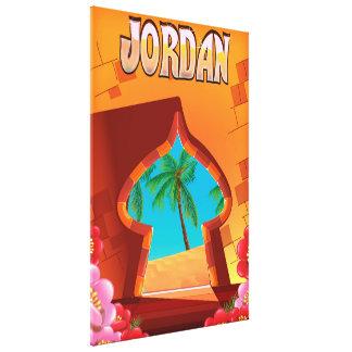 Jordan Palace travel poster Canvas Print