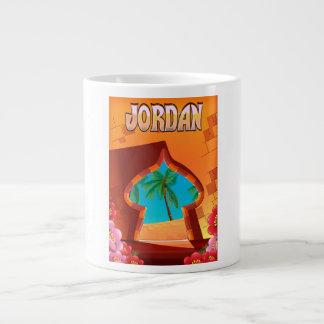 Jordan Palace travel poster Large Coffee Mug