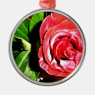 Jordan Rose Silver-Colored Round Ornament