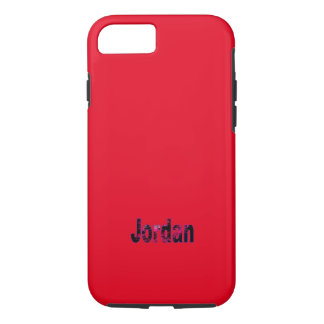 Jordan Solid Red iPhone case