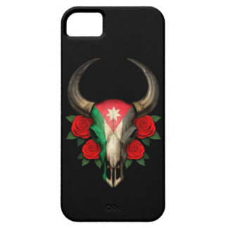 Jordanian Flag Bull Skull with Red Roses Case For The iPhone 5
