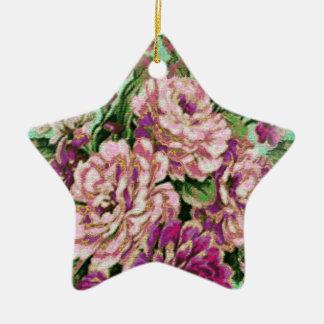 Joremount Chic Floral Star Ceramic Ornament