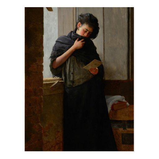 José Almeida Jr - Saudade (Longing) (1899) Post Card
