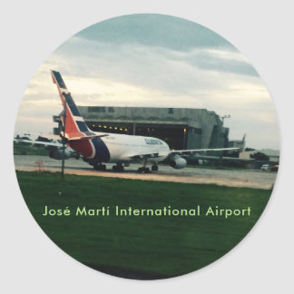 José Martí International Airport Hava Cuba Round Sticker