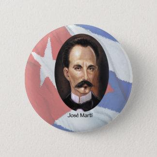 Jose Marti on Cuban Flag 6 Cm Round Badge