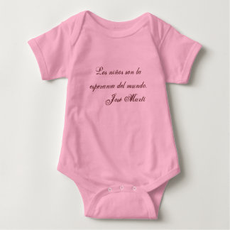 Jose Marti Poetry baby clothing 1 (pink) Baby Bodysuit
