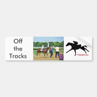 Jose Ortiz Off the Tracks Bumper Sticker