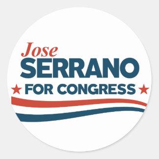 Jose Serrano Classic Round Sticker