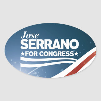 Jose Serrano Oval Sticker