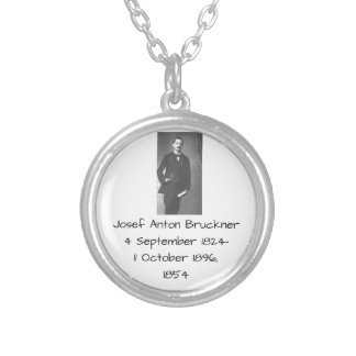 Josef Anton Bruckner 1854 Silver Plated Necklace