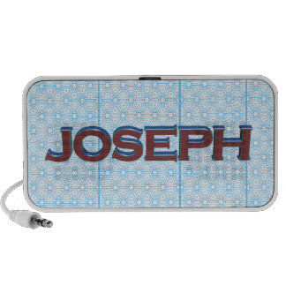 Joseph 3D text graphic over light blue lace iPhone Speakers