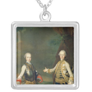 Joseph and Leopold, sons of Francis I and Maria Silver Plated Necklace