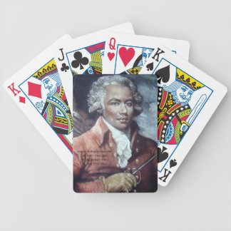 Joseph Bologne, Chevalier de Saint-Georges Bicycle Playing Cards