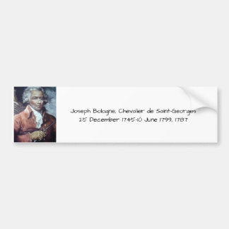 Joseph Bologne, Chevalier de Saint-Georges Bumper Sticker