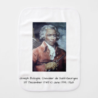 Joseph Bologne, Chevalier de Saint-Georges Burp Cloth