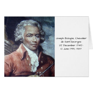 Joseph Bologne, Chevalier de Saint-Georges Card