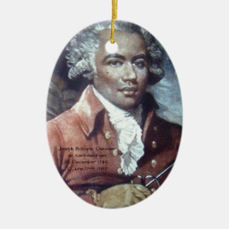 Joseph Bologne, Chevalier de Saint-Georges Ceramic Ornament